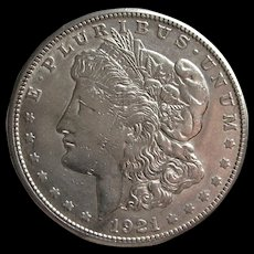 1921 S Morgan Silver Dollar- Nice Luster and Detail. - Red Tag Sale Item