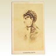 CDV Carlotta Patti Nineteenth Century Operatic Soprano Singer