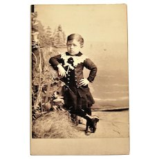 Cabinet Card Photograph- Little Lennie Chandler From Somerville MA.