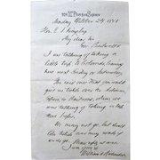 Signed Letter Secretary of Treasury William Adams Richardson-1881