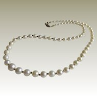 14K Cultured Freshwater Graduated Pearl Necklace.