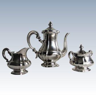 Fine Sterling Silver .925 Three Piece Tea Service by Gottlieb Kurz. Germany. 1930