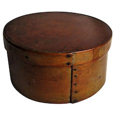 19th Century New England Honey Brown Pantry Box.