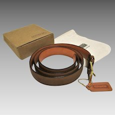 Men's Coach Leather Belt with Pouch and Box, U.S.A.