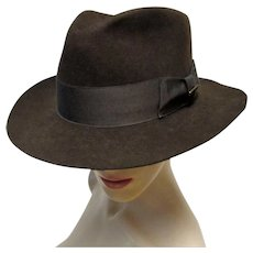 Gents Mallory by Stetson Brown Wool Fedora Hat. 7 1 8 63acb2dc14b