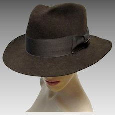 Gents Mallory by Stetson Brown Wool Fedora Hat. 7 1/8