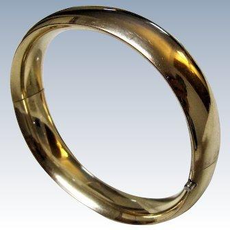 Vintage Gold Filled Hinged Bangle Bracelet-Hallmarked.