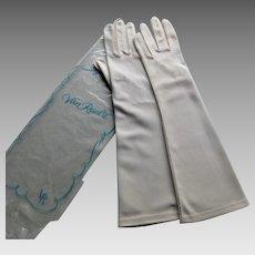 Van Raalte Long White Vintage Gloves One Size NOS-1960s