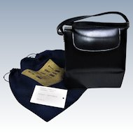Stuart Weitzman Petite Leather Navy Blue Shoulder Bag.