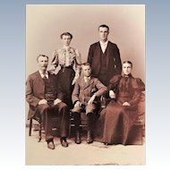 Victorian Cabinet Card-Three Generation Perfectly Posed Family. Syracuse, N.Y.