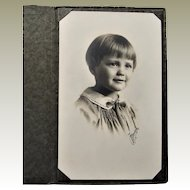 1925 Photograph Of Precious Little Girl With Bobbed Hairstyle- Des Moines, IA.