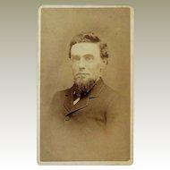Rare CDV Photograph of Deacon Franklin Dearborn. Chelsea Vermont.