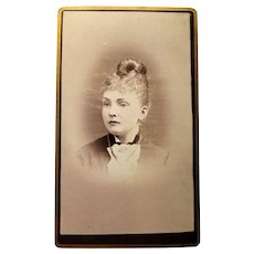 Victorian CDV Of a beautiful Lady from Lowell, MA- Photographer Miss C. Smith.