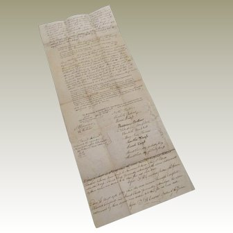 Hand Written Deed Town of Newburyport, MA - Nathaniel Perkins & All to George Donnell 1839