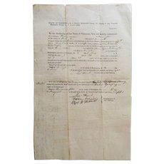 Bennington, Vermont- Jailed Prisoner Summons Citation-1838