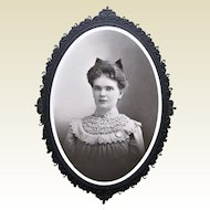 Victorian Cabinet Card Beautiful Young Lady -  Naugatuck, CT.