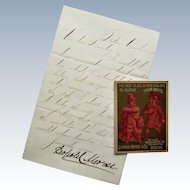 Leopold Morse Signed Letter With Trade Card- 1879