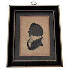 Early 19th Century Hand-Cut and Painted Silhouette of a Gentleman