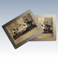 Two Cabinet Card Class Photographs, Newburyport, Massachusetts. I.D.Class Of 1904