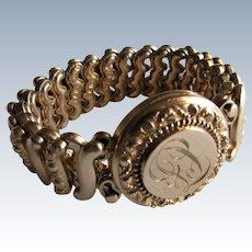 Gold Filled Carmen Sweetheart Locket Expansion Bracelet.