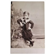 Cabinet Card Photograph- Little Lennie Chandler From Somerville MA.