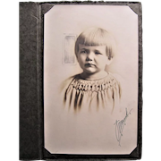 1924 Photograph Of Precious Little Girl With Blond Bobbed Hairstyle- Des Moines, IA.