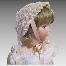 Adorable Vintage Baby Girls Easter Bonnet-Ribbons and Lace.