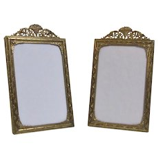 A Pair Of Matching French Gilded Brass Photo Frames