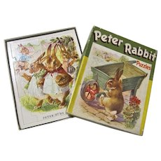 5 Peter Rabbit Jigsaw Puzzles in Original Box - Samuel Gabriel Sons & Company.