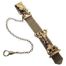 Antique Bates & Bacon Gold Filled Pocket Watch Chain With Wax Seal Fob.