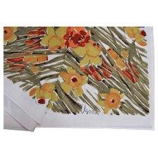 Vera Neumann Designer Bold Colorful Autumn Tablecloth