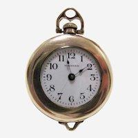 Waltham 14k Gold Filled Ladies Pendant Pocket Watch~1918