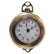 Waltham 14k Gold Filled Ladies Pendant Pocket Watch~1915