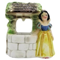 1950s Walt Disney Snow White Wish Well Bank