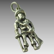 Vintage Sterling Silver Civil War Rifle Man Charm