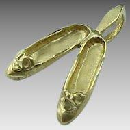 14 K Gold Ballet 3 D Ballet Slippers