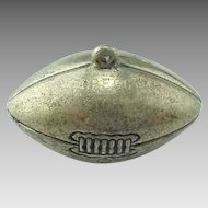 1940's Solid Sterling Foot Ball Charm Engraved Gregg Stone Award