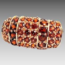 Gorgeous Custom 10 Karat Rose Gold 11.35mm Paved 4.00 CTW Garnet Band Ring #L876.