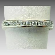 14K White Gold .25 Carats Eleven Diamond Band