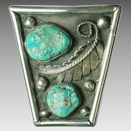 Sterling Silver and Turquoise Native American Bolo