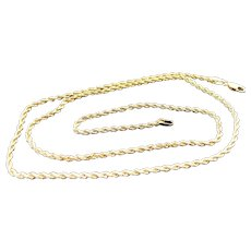 """14K Yellow Gold 1.80 Width Rope Chain 20"""""""