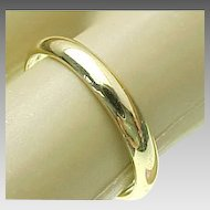 14K Yellow Gold, 3 mm Wedding Band