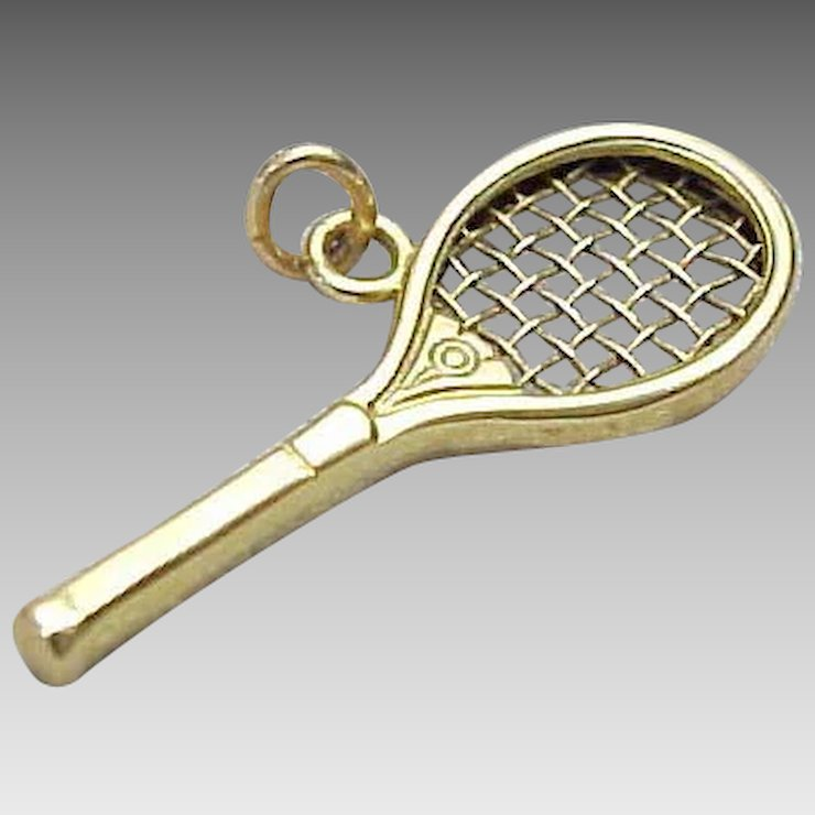 14k yellow gold tennis racket pendant king davids treasures ruby 14k yellow gold tennis racket pendant mozeypictures Gallery