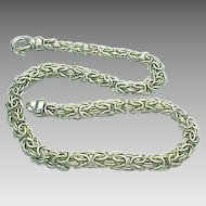 "Sterling SIlver 18"" Length Byzantine Chain"