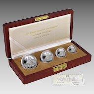☆EXTREMELY RARE☆ 1987 Switzerland Helvetica 4-Coin Matterhorn Platinum Proof Set