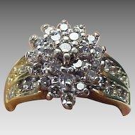 Vintage 1.00 Carat Diamond Cluster Ring