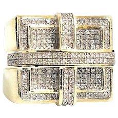 Stunning Custom Handmade 10 Karat Yellow & White Gold 2.00 Carat Diamond Ring #V20.