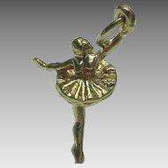 Vintage 14K Yellow Gold Ballerina Charm