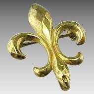 Antique Victorian Fleur De Lis Vintage Watch Pin/ Brooch /Pendant