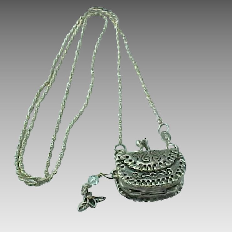 product allthingscharmed vintage purse locket necklace bronze little pendant